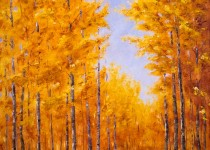 Crested Butte Fall Road 30 x 40 $2,200