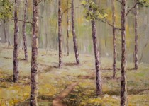 Aspen Grove With Trail