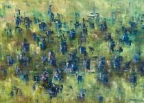 Penstemon in Blue 20x30 $975 (sold).