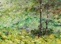 Lower Loop Wildflowers III 12x36 $675.