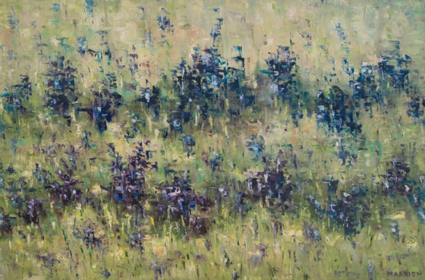 Wildflowers in Purple and Blue