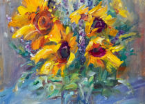 Sunflower Still Life 20x16 $725