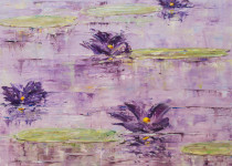 Purple Lilies 16x16 $625.