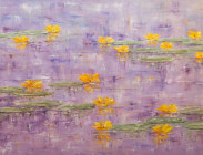 Yellow Lilies on Purple