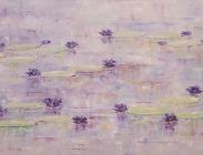 Purple Lilies 24x48 $2,100.