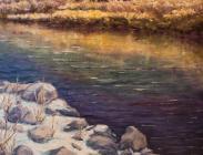 Slate River Reflections 18x18 $675.