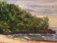 Ke e Beach en Plein Air 9x12 $475.