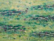Lilies on Green 24x40 $1,700.