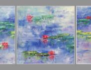 Pink Lily Triptych 8x8 (3) $825