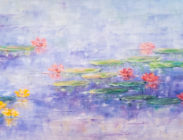 Yellow and Pink Lilies 24x72 $2,900
